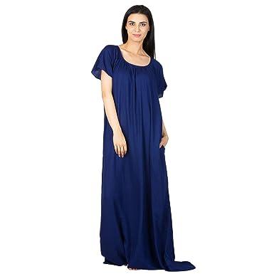 671f4d8353a RADANYA Night Dress Flared Royal Blue Designer Shift for Women/Girls S-5XL:  Amazon.co.uk: Clothing