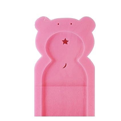 Primeros pasos bebé Esponja de baño apoyo en forma de osito para bebés desde recién nacido rosa