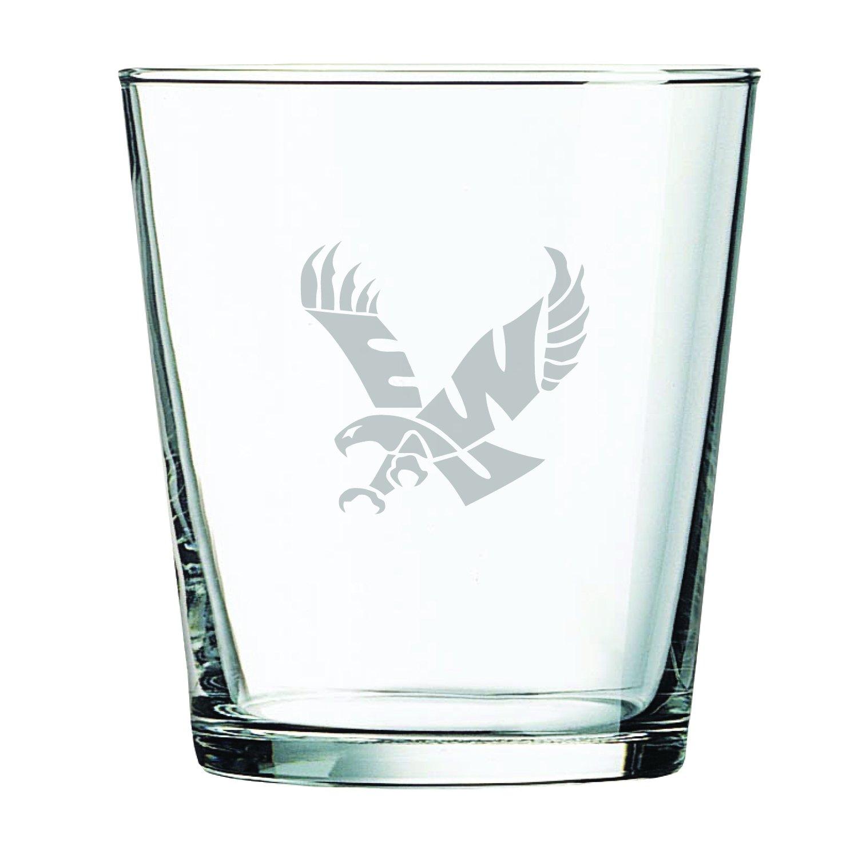 Eastern Washington University -13 oz LXG Rocks Glass Inc
