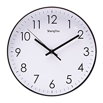 Superior Bien Zs 10 Inch Non Ticking Silent Quartz Wall Clock With Modern Design