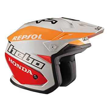 HEBO Montesa Team II Casco, Blanco, Talla M