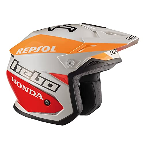 HEBO Montesa Team II Casco, Blanco, Talla L