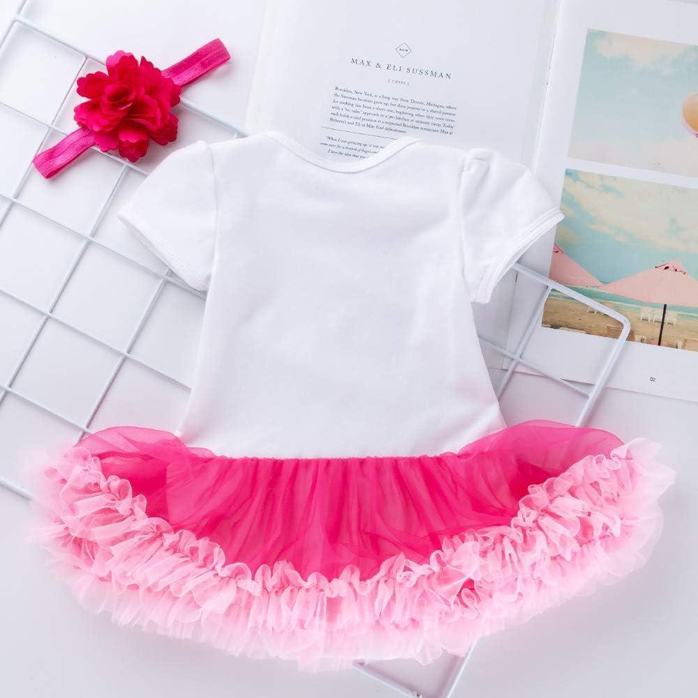 per festeggiare il 2/° compleanno Marlegard/® Vestitino per bambine con gonnellino a tut/ù e fascia per capelli