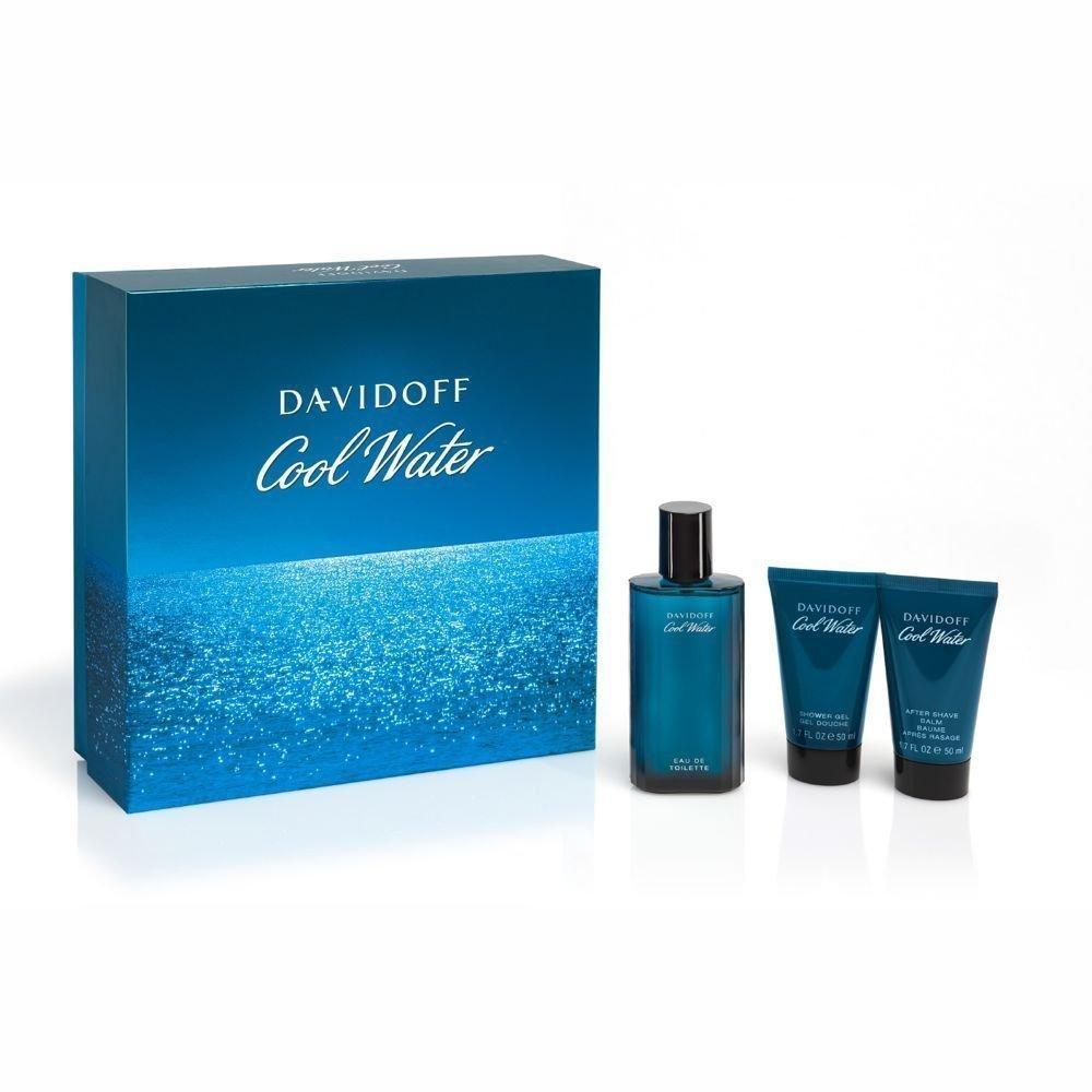 Davidoff Cool Water Eau De Toilette Spray 75ml Set 3 Parti 2015 GST09830