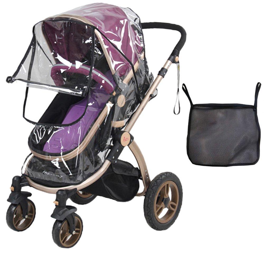 Tomkity Burbuja de Lluvia, <strong>protector de lluvia para silla de paseo</strong> de Bebé y Carrito con una Bolsa Organizadora de Malla para Guardar Cosas