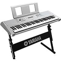 雅马哈(YAMAHA) 雅马哈电子琴 成人61键 儿童初学娱乐键盘 YPT360+琴架+琴罩+转接头等配件 (银色)