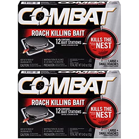 Combat Large Small Roaches Roach Killing Bait Stations 12 Count Pack Of 2