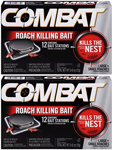 Combat Large and Small Roaches Killing Bait Stations, 12 Count (Pack of 2) Total 24 Bait Stations by Combat
