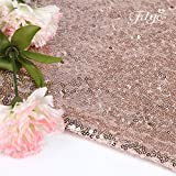 TRLYC 50-Inch Round Embroidery Sequin Christmas Tree Skirt --Rose Gold