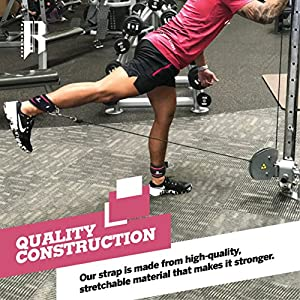 Pair of Cable Ankle Straps For Workout Kickback Gym Equipment Best Leg Strap For Ankle-Ideal For Workout Gear And Equipment-Premium Cable Attachments For Gym-Quality Ankle Strap For Women And Men Pink