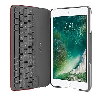 Logitech 920-007628 Bluetooth Rojo Teclado para móvil - Teclados para móviles (Rojo,