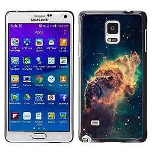 TopCaseStore / la caja del caucho duro de la cubierta de protección de la piel - Beautiful Space Galaxy - Samsung Galaxy Note 4 SM-N910