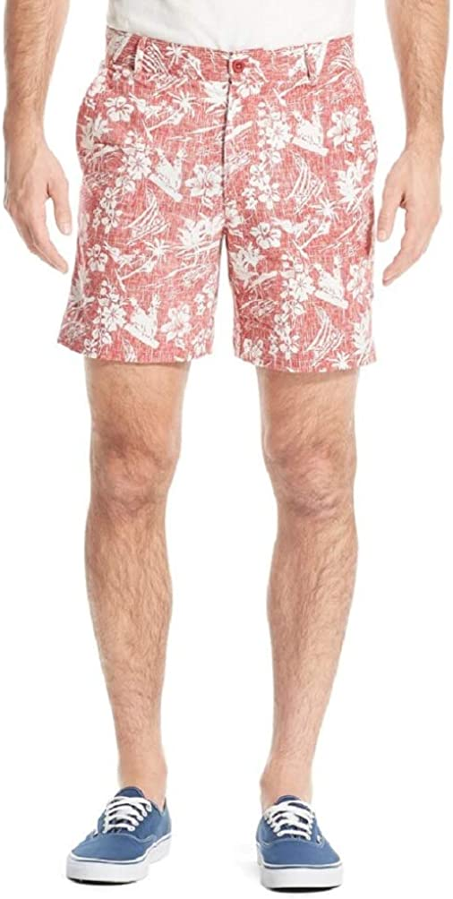 "IZOD Men's Saltwater Classic-Fit Chino Stretch Flat-Front Shorts 7"" in-Seam"