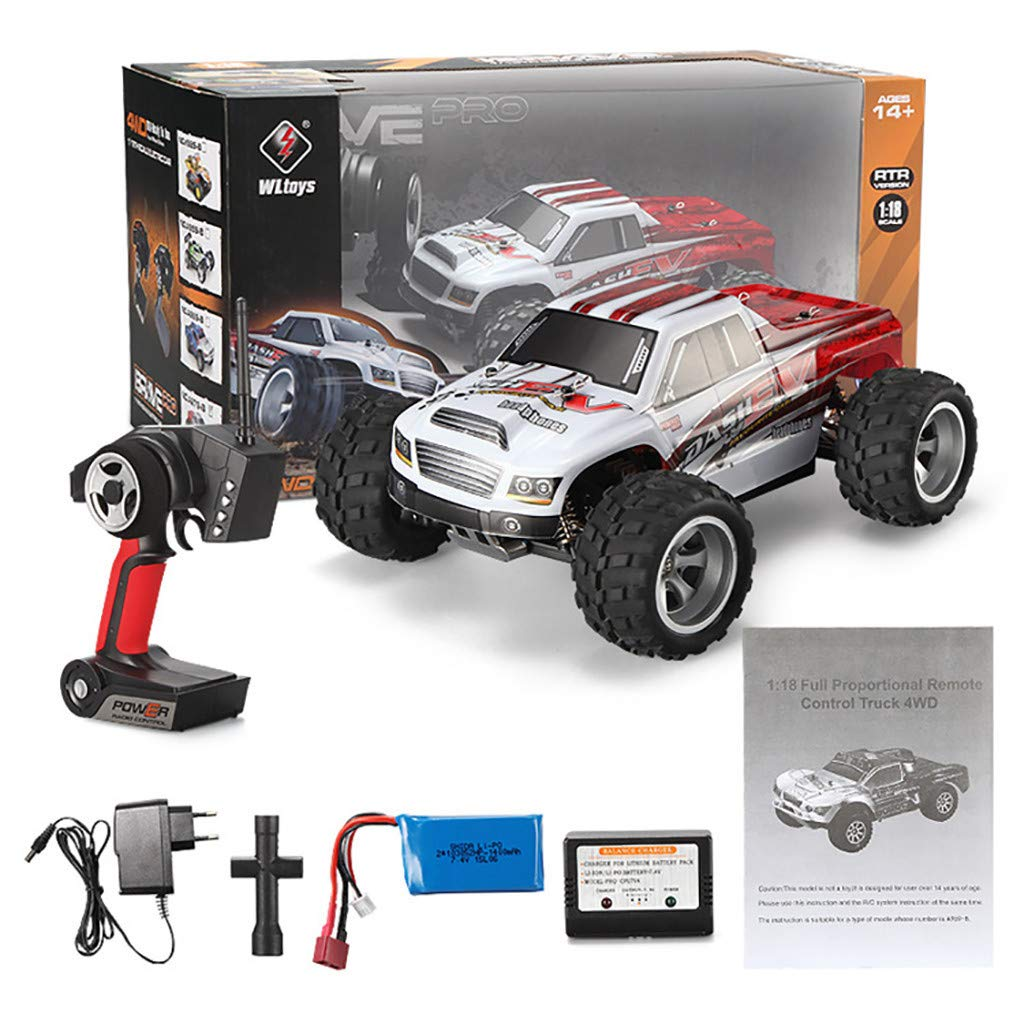 Rigel7 WLtoys A979B 1:18 Remote Control RC Car 2.4G 4WD High Speed 70km/h Off-Road Race Buggy Truck Toy Gift for Kids Adults by Rigel7