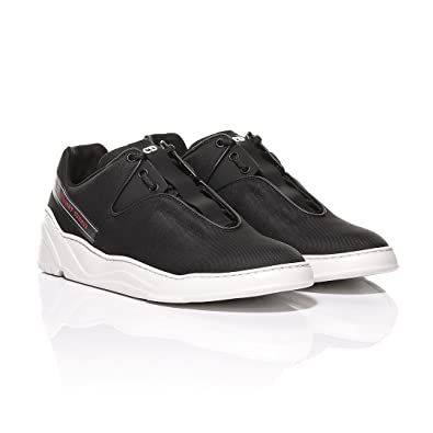 dfa0af07eb18 Dior Homme Black Nylon Canvas and Matt Black Calfskin Sneakers  Latenight  Summer  Detail (