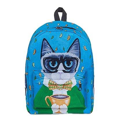 2a50f724da BCDshop Backpack College Women School Rucksack Satchel Girls Canvas Large  Travel Shoulder Bag-Funny Cute