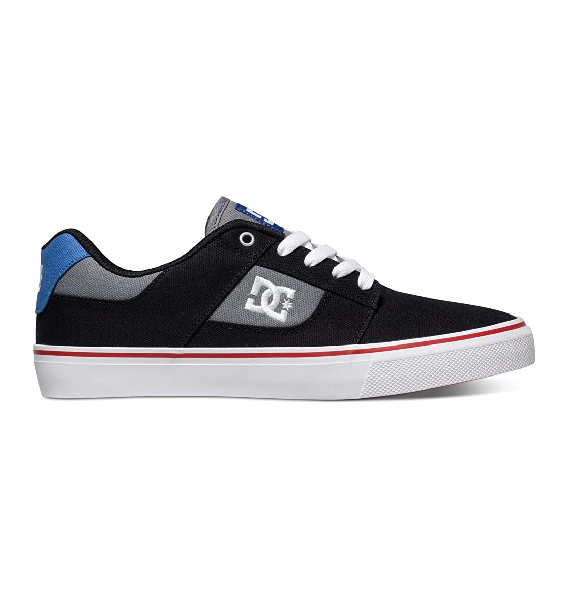 b8b2158ef98cd DC Shoes Mens Shoes Bridge Tx - Low-Top Shoes - Men - US 9 - Black Black/Dk  Grey/Athletic Red US 9 / UK 8 / EU 42