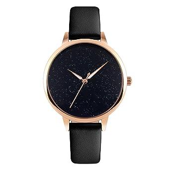 60dd93542f0f Simple Women s Quartz Watches Rose Gold Case Black Leather Strap Fashion  Casual Quartz Watch for Ladies  Amazon.co.uk  Watches