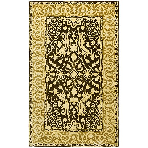 Safavieh Silk Road Collection SKR213F Handmade Brown and Ivory New Zealand Wool Area Rug 4 x 6