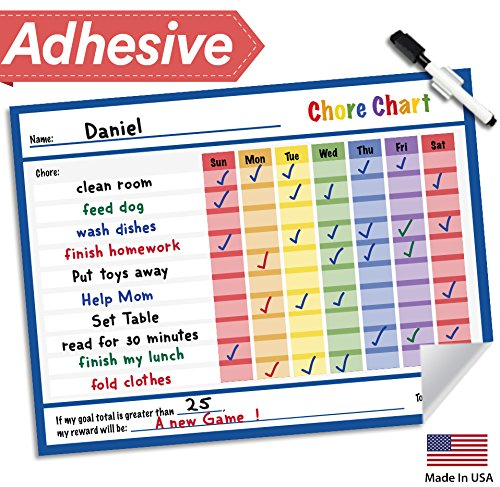 Lushleaf Designs Responsibility Chore Chart for Kids - 14.5