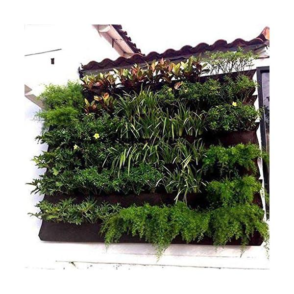 shilihuajian Colore Nero Appeso A Parete Borse per Piantare Tasche Coltivare Borsa Fioriera Giardino Verticale Orto… 2 spesavip