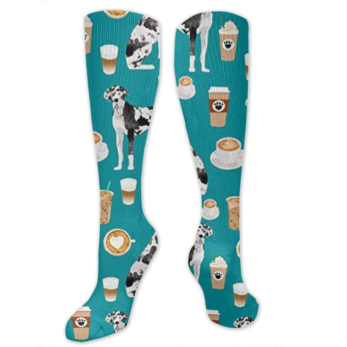Great Dane Coffee Cute Dog Mens//Womens Sensitive Feet Wide Fit Crew Socks and Cotton Crew Athletic Sock