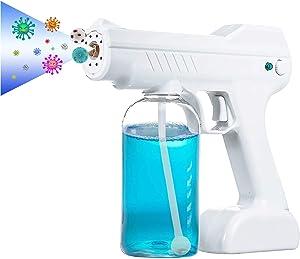 HSFHDSY Sprayer Fogger,Steam Gun Disinfectant Mist Gun,Handheld Rechargeable Nano Atomizer, 800ml Large Capacity Electric Sprayer Nozzle Adjustable ULV Fogger for Home, Office, School or Garden