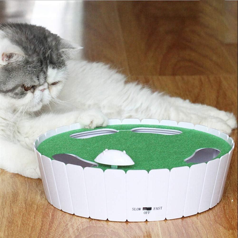 Forart Pet Automatic Toy Tease Cats Ratón interactivo que corre a ...