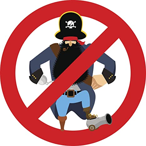 Amazon.com: No piratas permitido Icon de dibujos animados ...