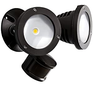 TOPELE Security Light, 2200LM Motion Sensor Outdoor Flood Light, Motion Activated Landscape Lighting, IP65 Waterproof, Adjustable Head with CREE LED Source for Home, Garden