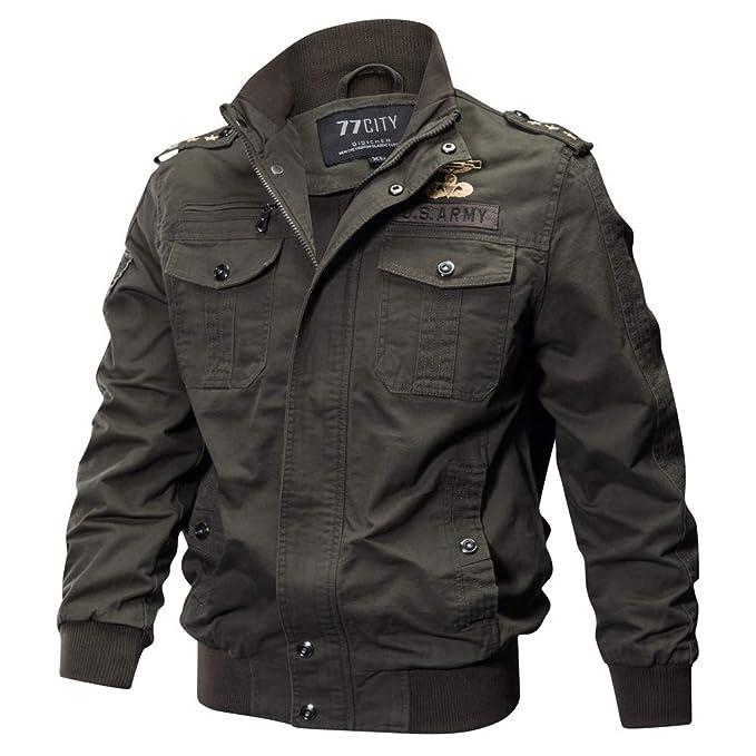 Amazon.com: G-Real Mens Casual Long Sleeve Full Zip Fashion ...