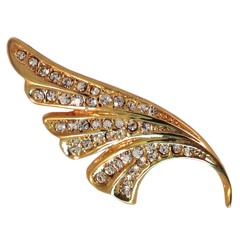 be928af1d27 Amazon.com: Big, Bold and Beautiful Brooches and Pins Jewelry Collection,  Crystal and Vintage Brooches (Angel Wing): Jewelry