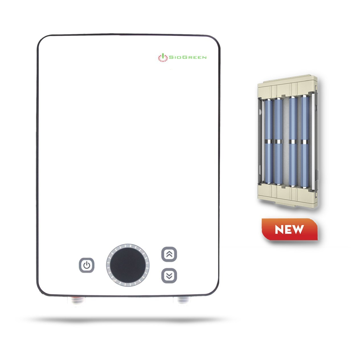 SioGreen IR30 POU. 120V/3.4kW/30A. Infrared Electric Hot Tankless Water Heater. Hand Wash Only. No Corrosion. No Limescale by SioGreen