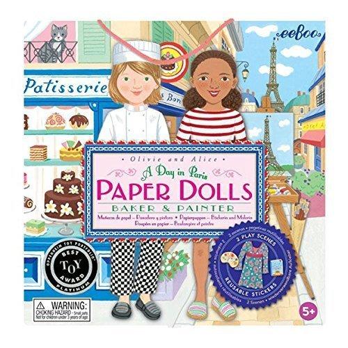 Baker and Painter Paper Dolls by eeBoo (Eeboo Paper Dolls)