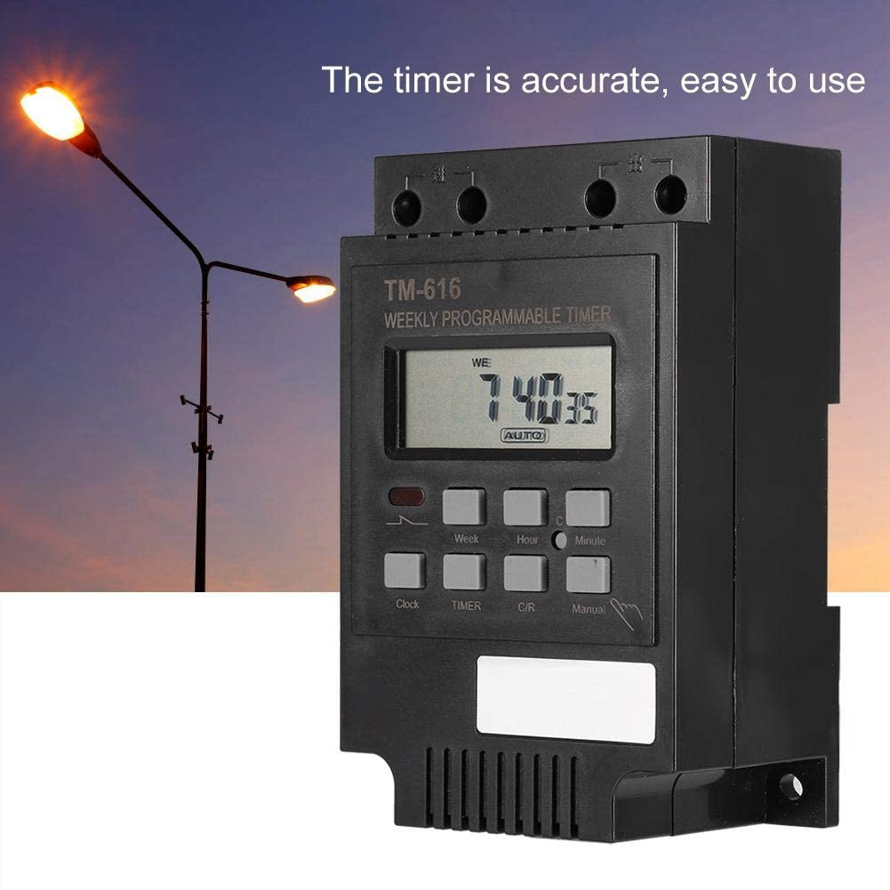 2 x Maclean Minuterie Programmable Prise numérique minuterie Lightning Chauffage