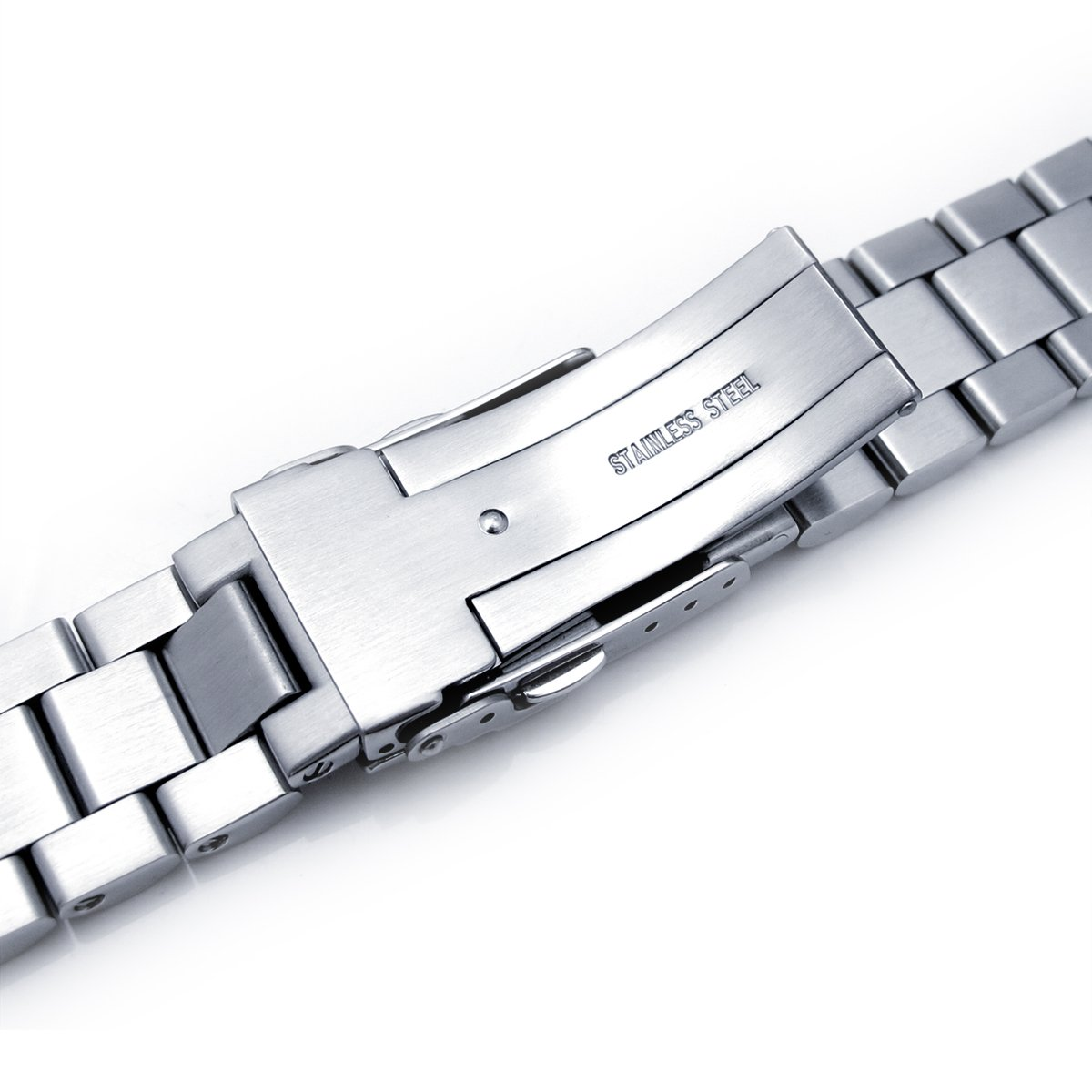 22mm Endmill watch band for SEIKO Diver SKX007, Brushed Solid Stainless Steel by Seiko Replacement by MiLTAT