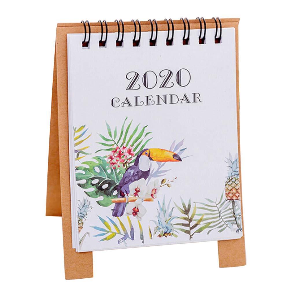 Calendario de Mesa Yu2d con diseño de Dibujos Animados (2020 ...