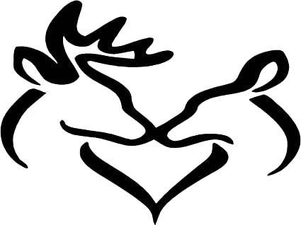 amazon com couples deer sticker decal buck and doe in color black
