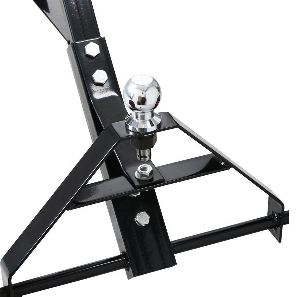 Negro Oypla Metal Caravana del Barco Jet Ski Trailer Dolly Capacidad de Carga 150kg