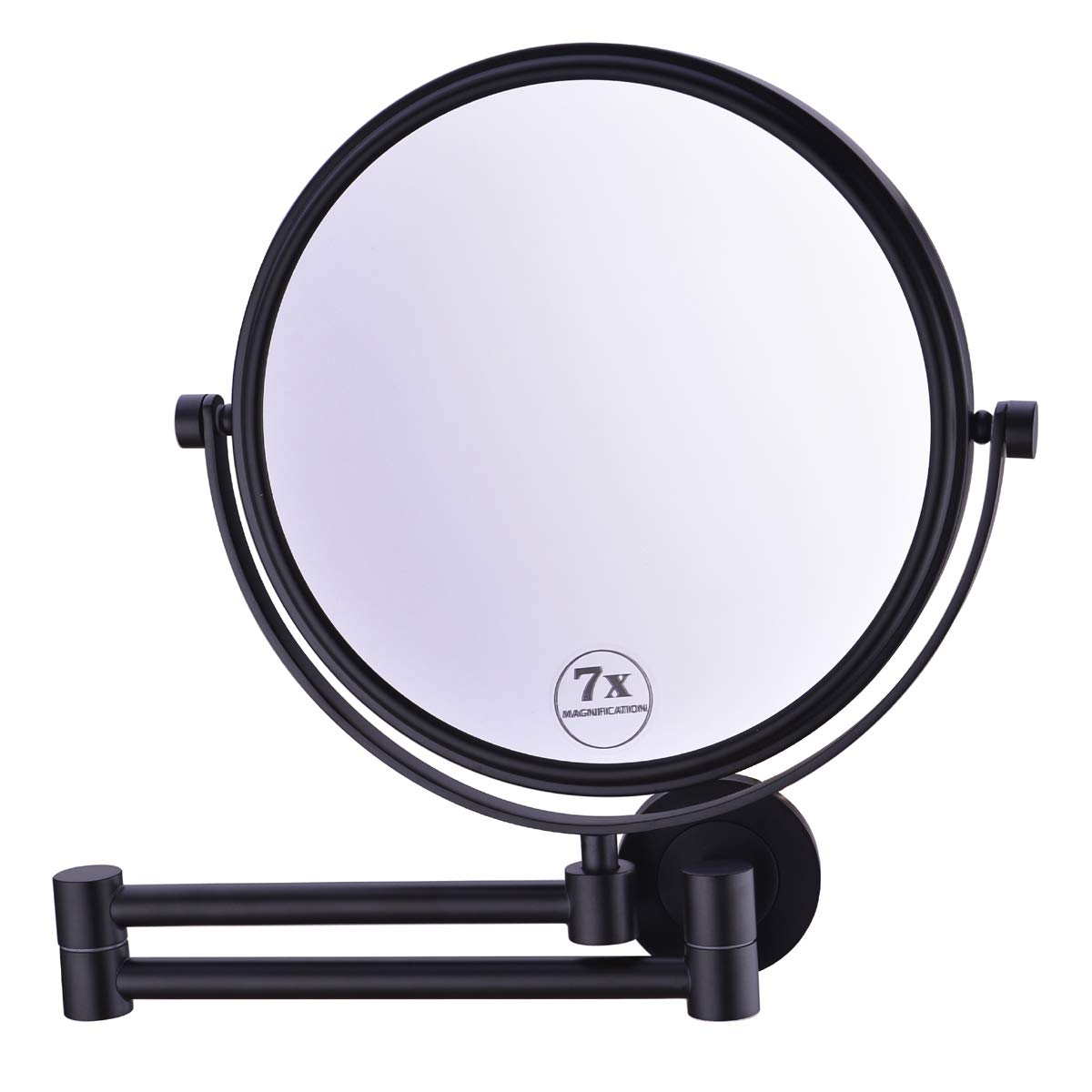 Anpean 8 Inch Double-Sided Swivel Solid Brass Wall Mounted Makeup Mirror