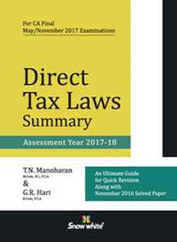 CA FINAL DIRECT TAXATION PDF DOWNLOAD