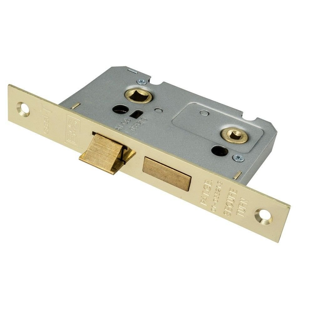 Carlisle Brass BAE5030EB Bathroom Lock 76mm Electro Brass, Gold