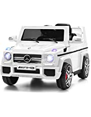 Costzon Kids Ride On Car, Licensed Mercedes Benz G65, 12V Electric RC Remote Control Car (White)