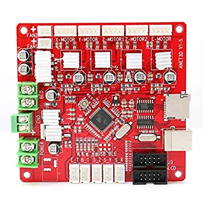 Anet E12 Mainboard DIY Self Assembly Control Board V1.5 RepRap Ramps1.4 Compatible Mother Board for Anet E12 3D Printer by Qibei