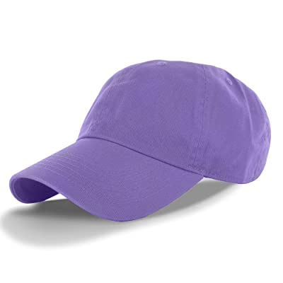 Lavender_(US Seller)Cotton Plain Solid Style Baseball Ball Cap Hat