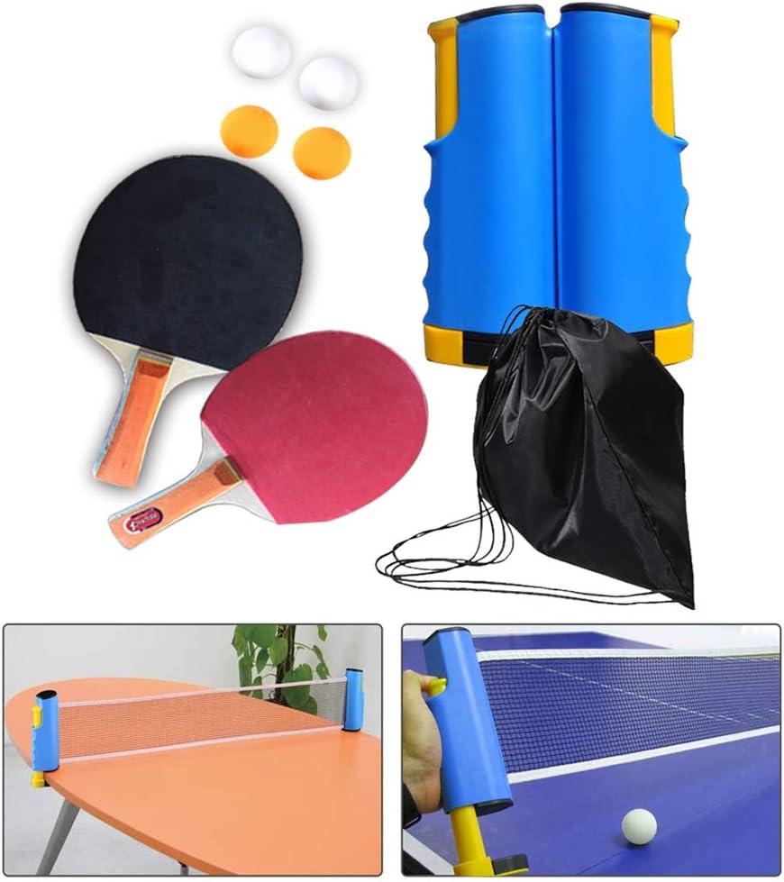 WYZTLNMA Rack de Red portátil de Tenis de Mesa retráctil, Accesorios de Tenis Red de reemplazo para Deportes de Ping Pong