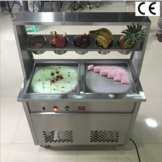 TX® Fried Ice Cream Machine 1600W Commercial Fried Ice Cream Maker ...