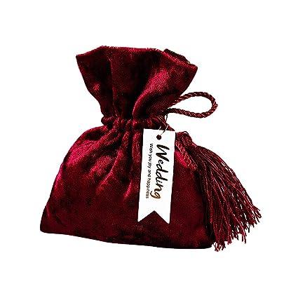 Amazon.com: ASSR Bolsa de caramelo con cordón para ...