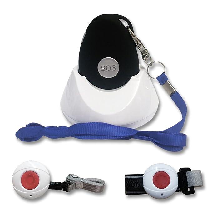 Kombi-Notrufsystem für Zuhause und unterwegs   Anruf und GPS Position, Fallsensor, spritzwassergeschützt, Pflegeruf-Set, Seni