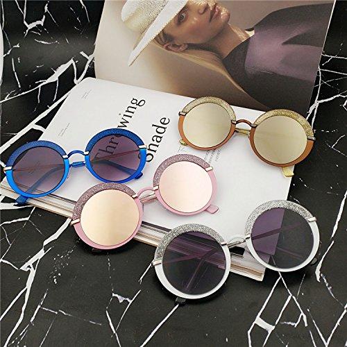 Sunyan Runde box flash Bohren im Sommer über Gesicht Sonnenbrillen alle - Bringen sie Sonnenbrille style Rasieren, Blaue flackern